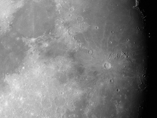 The Lunar Crater Copernicus and surrounding area 02/22/2002