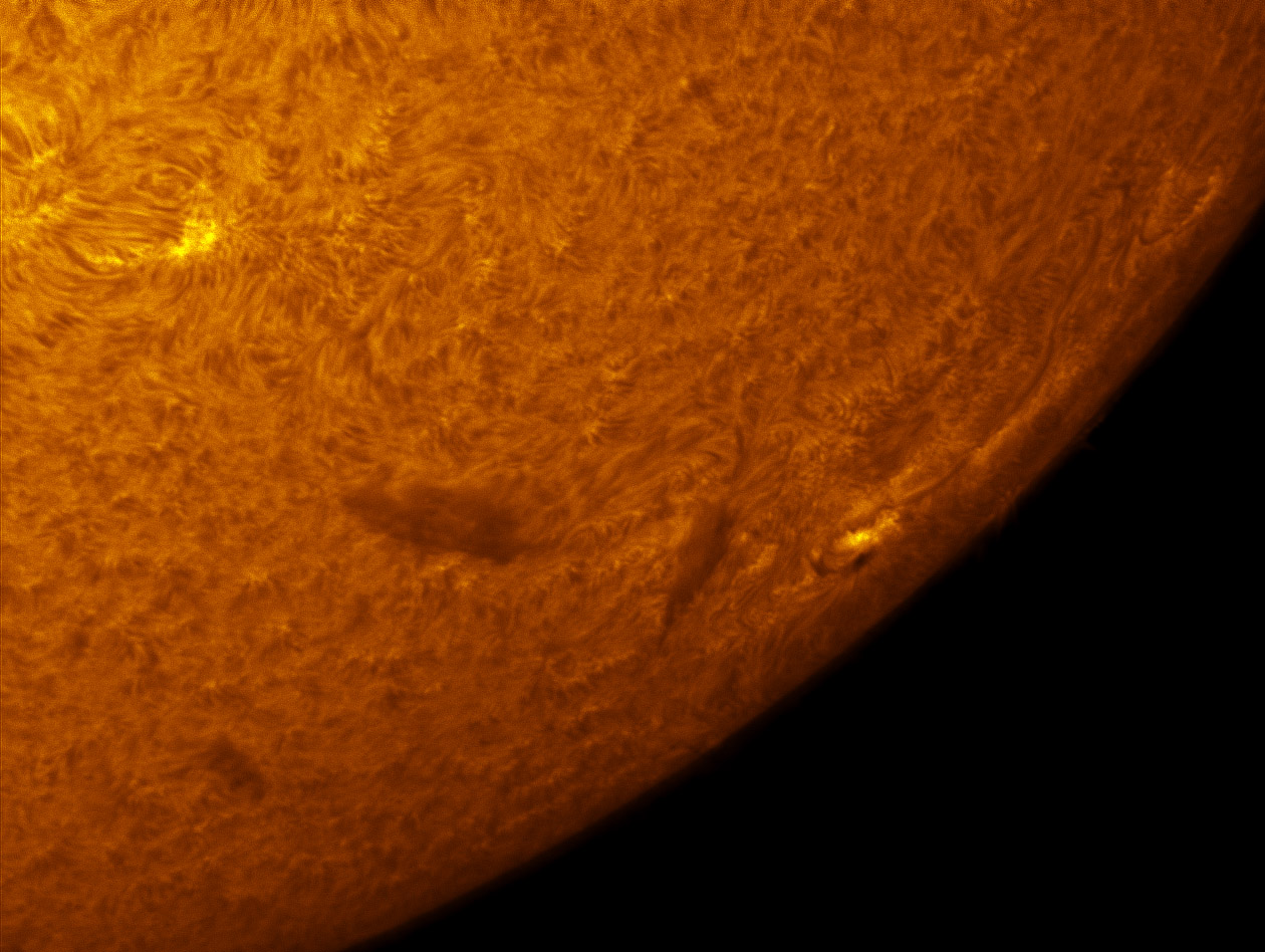 Sunspot 1469 in h-alpha 05/05/2012