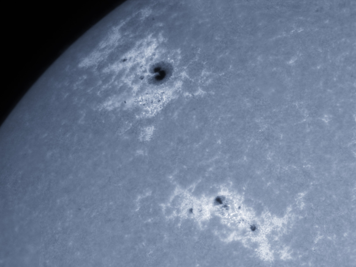 Sunspots 1744, and 1745 in CaK 05/12/2013