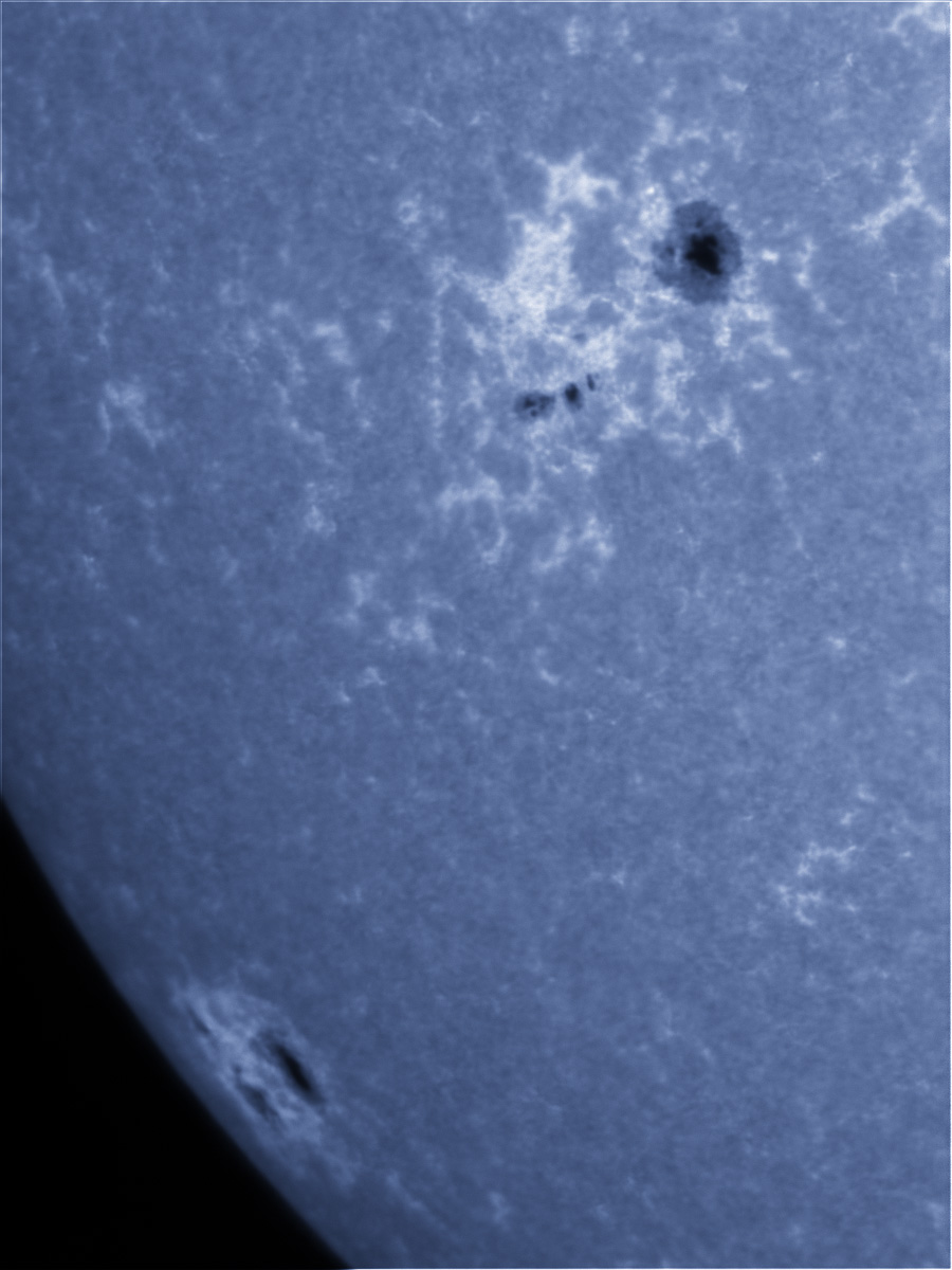 Sunspots 1596 and 1598 in CaK 10/21/2012