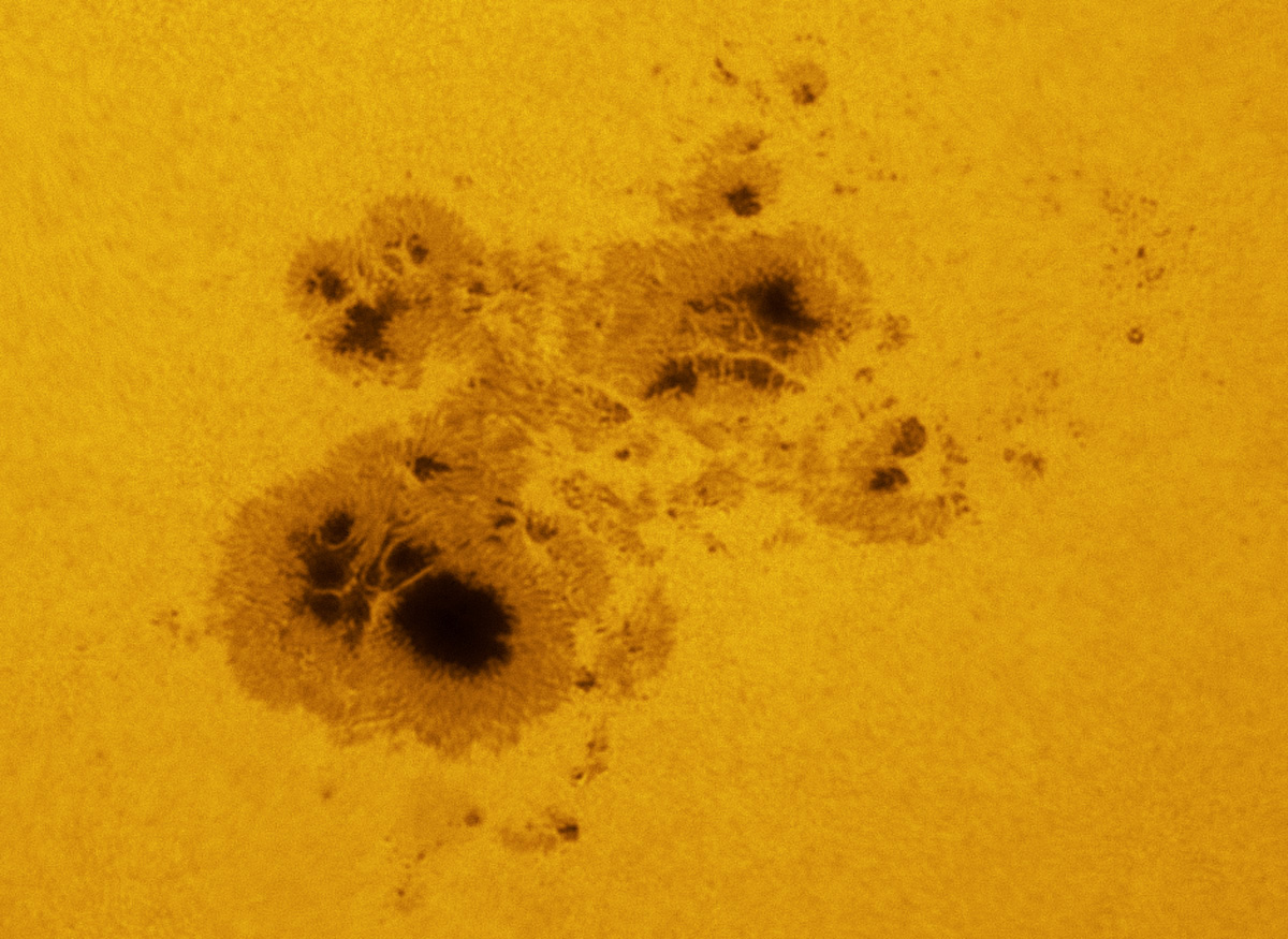 Huge Sunspot 12192 in white light 10/23/2014